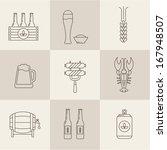 beer icons set vector | Shutterstock .eps vector #167948507