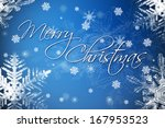 merry christmas greeting card... | Shutterstock . vector #167953523