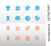 communication icon vector... | Shutterstock .eps vector #167967497