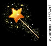 sparkling magic wand isolated... | Shutterstock . vector #167971067