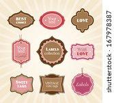pink vintage labels | Shutterstock .eps vector #167978387
