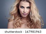beautiful young woman with... | Shutterstock . vector #167981963