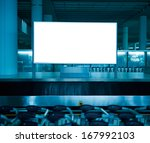 blank billboard at the airport. | Shutterstock . vector #167992103