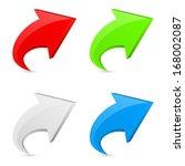 3d arrow icon concept | Shutterstock .eps vector #168002087