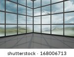 airplane flying past window | Shutterstock . vector #168006713