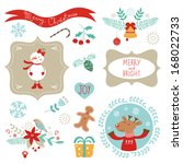 christmas graphic elements | Shutterstock .eps vector #168022733