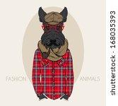 hand drawn fashion illustration ...   Shutterstock .eps vector #168035393