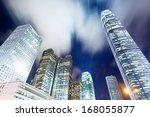 hong kong city at night | Shutterstock . vector #168055877