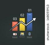 infographic design   chart | Shutterstock .eps vector #168055913