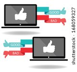 social media. hand signs vector.... | Shutterstock .eps vector #168059327