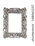 silver carved picture frame... | Shutterstock . vector #168062237