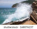 Breaking Wave On Adriatic Sea...