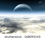 in the atmosphere of an alien ... | Shutterstock . vector #168093143