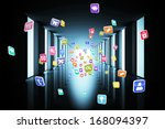 computing application icons | Shutterstock . vector #168094397