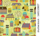 cute seamless pattern with... | Shutterstock .eps vector #168110807