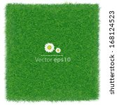 green grass realistic textured... | Shutterstock .eps vector #168124523
