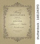 wedding invitation cards... | Shutterstock .eps vector #168134393