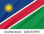 waving flag of the namibia | Shutterstock . vector #168152993