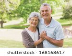 loving happy senior man and... | Shutterstock . vector #168168617