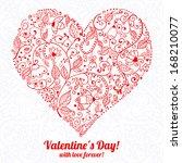 vintage ornamental valentines... | Shutterstock .eps vector #168210077