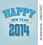 happy new year greeting card  ... | Shutterstock .eps vector #168221837