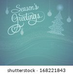 season greetings card   winter... | Shutterstock .eps vector #168221843