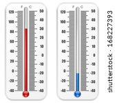 standard thermometer vector... | Shutterstock .eps vector #168227393