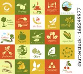 organic icons set   isolated on ...