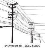 vector silhouette of telephone... | Shutterstock .eps vector #168256007
