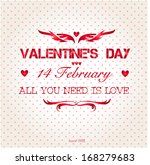 happy valentines day background.... | Shutterstock .eps vector #168279683