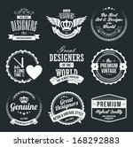 set of retro vintage badges and ...