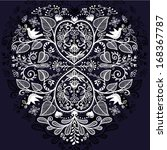 vector floral heart   Shutterstock .eps vector #168367787
