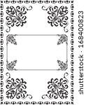classicall ornate border on... | Shutterstock .eps vector #168400823