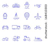 transport contour icons | Shutterstock .eps vector #168410303