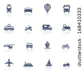 transport icons | Shutterstock .eps vector #168410333