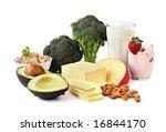 food sources of calcium ... | Shutterstock . vector #16844170