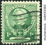 Small photo of USA - CIRCA 1940: Postage stamps printed in USA, shows an American education reformist, Horace Mann, circa 1940