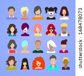 avatars icons. | Shutterstock .eps vector #168478073