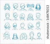 doodle avatars set