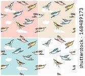 cute little cartoon birds... | Shutterstock .eps vector #168489173