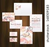 beautiful wedding invitation... | Shutterstock .eps vector #168509183