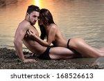the guy holding the girlfriend... | Shutterstock . vector #168526613
