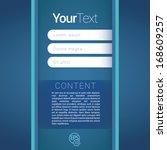 blue cold color concept... | Shutterstock .eps vector #168609257