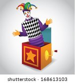 jack in the box. eps 10 vector  ...