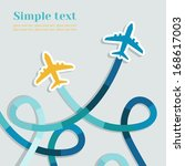 card with two planes and... | Shutterstock .eps vector #168617003