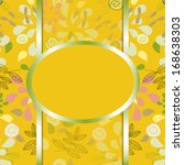 vector invitation card with a... | Shutterstock .eps vector #168638303