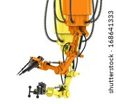 industrial robots hydraulically ... | Shutterstock . vector #168641333