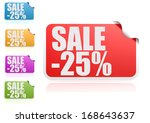 sale 25  label set | Shutterstock . vector #168643637
