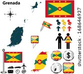 vector of grenada set with... | Shutterstock .eps vector #168646937