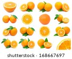 collection of fresh orange... | Shutterstock . vector #168667697